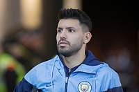 Sergio Aguero of Manchester City arrives for the EPL - Premier League match between Swansea City and Manchester City at the Liberty Stadium, Swansea, Wales on 13 December 2017. Photo by Mark  Hawkins / PRiME Media Images.