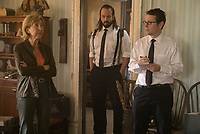 Insidious: The Last Key (2018) <br /> Lin Shaye as Elise Rainier, ANGUS SAMPSON as Tucker and LEIGH WHANNELL as Specs<br /> *Filmstill - Editorial Use Only*<br /> CAP/MFS<br /> Image supplied by Capital Pictures