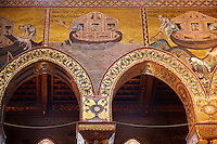 Byzantine mosaics depicting scenes from the Bible about Noah  in the Cathedral of Monreale - Palermo - Sicily Pictures, photos, images & fotos photography