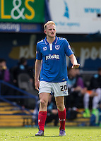 Matthew Clarke of Portsmouth during the Sky Bet League 2 match between Portsmouth and Wycombe Wanderers at Fratton Park, Portsmouth, England on 23 April 2016. Photo by Andy Rowland.
