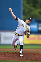Michigan Wolverines pitcher Bryan Pall (6) delivers a pitch during the first game of a doubleheader against the Siena Saints on February 27, 2015 at Tradition Field in St. Lucie, Florida.  Michigan defeated Siena 6-2.  (Mike Janes/Four Seam Images)