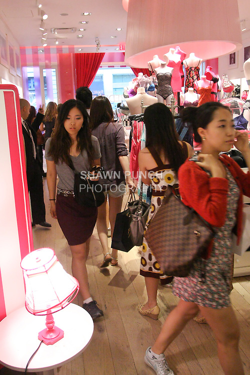 """Guests in store during the """"Incredible by Victoria's Secret"""" launch at the Victoria Secret SOHO Store, August 10, 2010."""