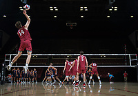 STANFORD, CA - March 3, 2018: Kyler Presho at Maples Pavilion. The Stanford Cardinal lost to Pepperdine, 3-0.