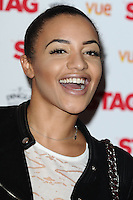 """Amal Fashanu arrives for the premiere of """"The Stag"""" at the Vue Leicester Square, London. 13/03/2014 Picture by: Steve Vas / Featureflash"""