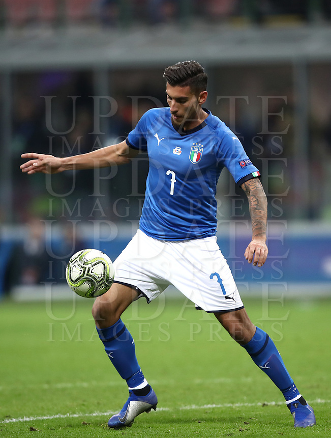 Football: Uefa Nations League Group 3match Italy vs Portugal at Giuseppe Meazza (San Siro) stadium in Milan, on November 17, 2018.<br /> Italy's Lorenzo Pellegrini in action during the Uefa Nations League match between Italy and Portugal at Giuseppe Meazza (San Siro) stadium in Milan, on November 17, 2018.<br /> UPDATE IMAGES PRESS/Isabella Bonotto