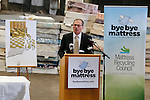 Mattress Recycling Council announces the Rhode island mattress recycling program at the Rhode Island Resource Recovery Corp in Johnston, RI on Tuesday, May 3, 2016.  (Photo/Joe Giblin)