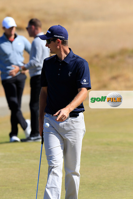 Justin Rose (ENG) on the 17th green during Wednesday's Practice Day of the 2015 U.S. Open 115th National Championship held at Chambers Bay, Seattle, Washington, USA. 6/17/2015.<br /> Picture &copy; Golffile/Eoin Clarke