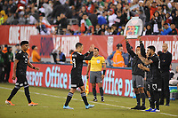 EAST RUTHERFORD, NJ - SEPTEMBER 7: Javier Hernandez #14 of Mexico leaving the game during a game between Mexico and USMNT at MetLife Stadium on September 6, 2019 in East Rutherford, New Jersey.
