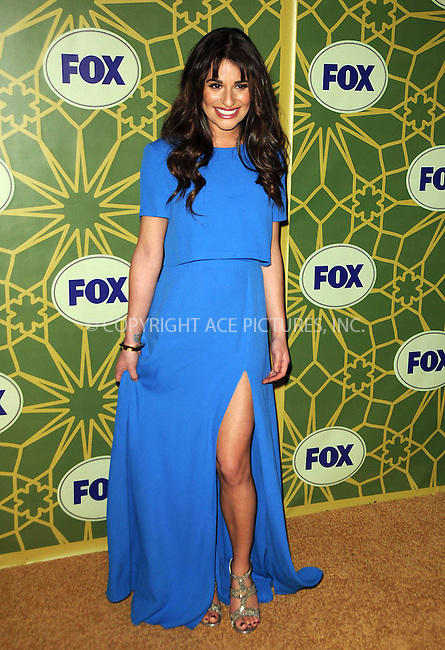 WWW.ACEPIXS.COM . . . . .  ....January 8 2012, LA....Actress Lea Michele arriving at Fox's All-Star Party at Castle Green on January 8, 2012 in Pasadena, California.....Please byline: PETER WEST - ACE PICTURES.... *** ***..Ace Pictures, Inc:  ..Philip Vaughan (212) 243-8787 or (646) 679 0430..e-mail: info@acepixs.com..web: http://www.acepixs.com