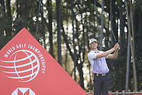 Victor Perez (FRA) on the 17th tee during the final round of the WGC HSBC Champions, Sheshan Golf Club, Shanghai, China. 03/11/2019.<br /> Picture Fran Caffrey / Golffile.ie<br /> <br /> All photo usage must carry mandatory copyright credit (© Golffile | Fran Caffrey)
