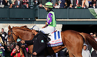 LEXINGTON, KY - APR 07: Good Magic (Jose Ortiz) wins the G2 Toyota Blue Grass Stakes at Keeneland, Lexington, KY. Trainer Chad Brown, owner eFive Racing Thoroughbreds (Robert J. Edwards Jr.) and Stonestreet Stables LLC (Barbara Banke.) By Curlin x Glinda the Good (Hard Spun) (Photo by Mary M. Meek/Eclipse Sportswire/Getty Images)