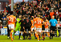 Players from both teas are involved in a fracas in the second half<br /> <br /> Photographer Alex Dodd/CameraSport<br /> <br /> The EFL Sky Bet League One - Blackpool v Sunderland - Tuesday 1st January 2019 - Bloomfield Road - Blackpool<br /> <br /> World Copyright © 2019 CameraSport. All rights reserved. 43 Linden Ave. Countesthorpe. Leicester. England. LE8 5PG - Tel: +44 (0) 116 277 4147 - admin@camerasport.com - www.camerasport.com