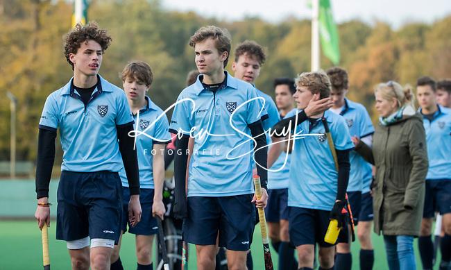 BLOEMENDAAL  -  Nijmegen na de wedstrijd, , competitiewedstrijd junioren  landelijk  Bloemendaal JA1-Nijmegen JA1 (2-2) . COPYRIGHT KOEN SUYK