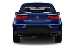 Straight rear view of 2017 Mercedes Benz GLC-Coupe 300-4MATIC 5 Door SUV Rear View  stock images