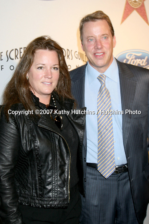 Bill Ford & Wife.Screen Actors Guild Award of Excellence Breakfast.Hollywood & Highland Annex.Los Angeles,  CA.October 25, 2007.©2007 Kathy Hutchins / Hutchins Photo...               .