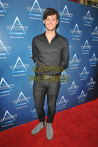 "Tyger Drew-Honey at the ""The Illusionists"" show press night, Shaftesbury Theatre, Shaftesbury Avenue, London, England, UK, on Wednesday 10th July 2019.<br /> CAP/CAN<br /> ©CAN/Capital Pictures"