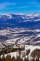 Sam's Smokehouse restaurant (on the mountain), Snowmass/Aspen ski resort, Snowmass Village (Aspen), Colorado USA.