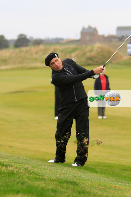 Andy Garcia during Round 2 of the Alfred Dunhill Links Championship at Kingsbarns Golf Club on Friday 27th September 2013.<br /> Picture:  Thos Caffrey / www.golffile.ie