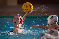 STANFORD, CA - February 4, 2018: Jordan Raney at Avery Aquatic Center. The Stanford Cardinal defeated Long Beach State 14-2.