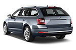 Car pictures of rear three quarter view of 2017 Skoda Octavia Style 5 Door Wagon Angular Rear