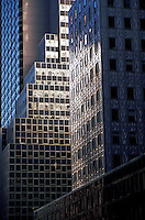 Reflected light on office buildings, New York City