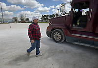 NWA Democrat-Gazette/BEN GOFF @NWABENGOFF<br /> Corey Marler walks to a truck Thursday, April, 6, 2017, at Northwest Technical Institute in Springdale.