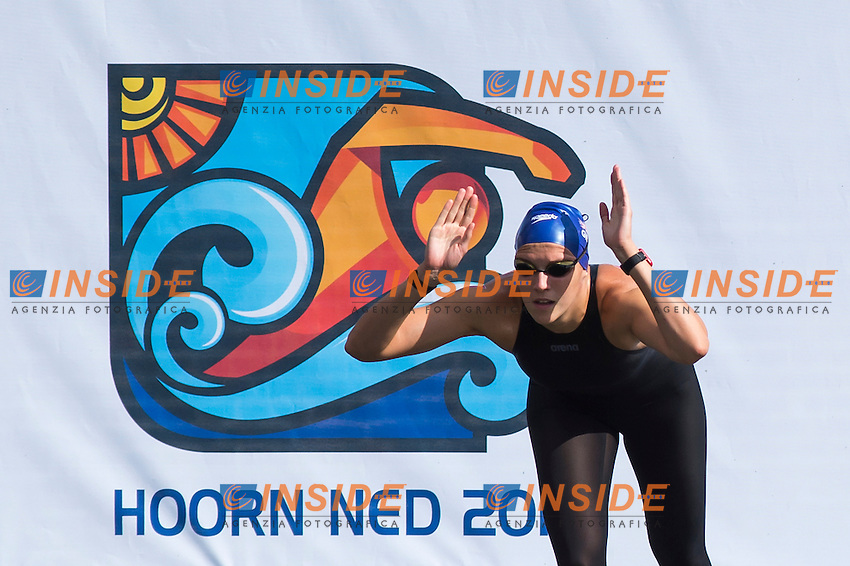 HUSKISSON Danielle GBR gold medal European Champion<br /> Hoorn, Netherlands <br /> LEN 2016 European Open Water Swimming Championships <br /> Open Water Swimming<br /> Women's 5km<br /> Day 02 12-07-2016<br /> Photo Giorgio Perottino/Deepbluemedia/Insidefoto