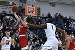 during the Shore Conference Boys Basketball Tournament held on Sunday February 18,2018 at the RWJ Barnabas Health Center in Toms River<br /> (MARK R. SULLIVAN /THE COAST STAR)