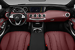 Stock photo of straight dashboard view of 2017 Mercedes Benz S-Class S550 2 Door Convertible Dashboard