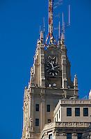 Spanien, Telefonica-Gebäude auf der Gran Via in Madrid