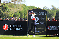 Bernd Wiesberger (AUT) in action during the first round of the Turkish Airlines Open played at the Montgomerie Maxx Royal Golf Club, Belek, Turkey. 07/11/2019<br /> Picture: Golffile | Phil INGLIS<br /> <br /> <br /> All photo usage must carry mandatory copyright credit (© Golffile | Phil INGLIS)