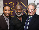 "Charles Randolph-Wright, BeBe Winans and William Ivey Long backstage after a Song preview performance of the Bebe Winans Broadway Bound Musical ""Born For This"" at Feinstein's 54 Below on November 5, 2018 in New York City."