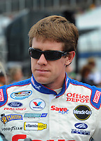 Apr 26, 2008; Talladega, AL, USA; NASCAR Nationwide Series driver Carl Edwards prior to the Aarons 312 at the Talladega Superspeedway. Mandatory Credit: Mark J. Rebilas-