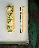 AUSTRIA, Schutzen Am Gerbige, cold steamed char with apple horseradish, Taubenkobel Restaurant, Burgenland