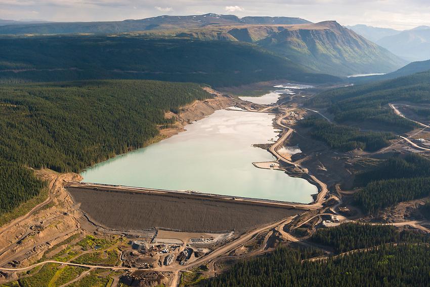 Red Chris Mine. Tailings Pond. Northwest B.C., 2017.