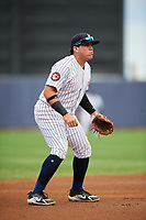Staten Island Yankees third baseman Andres Chaparro (26) during a game against the Lowell Spinners on August 22, 2018 at Richmond County Bank Ballpark in Staten Island, New York.  Staten Island defeated Lowell 10-4.  (Mike Janes/Four Seam Images)