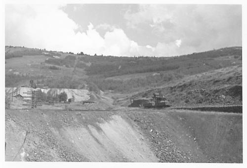 MT mine spur at Cripple Creek.<br /> Midland Terminal  Cripple Creek, CO