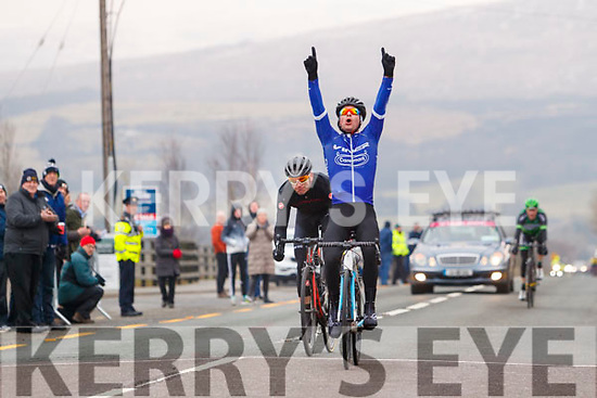 Matteo Cigala winning the A1, A2 and A3 race at the finish of the Lacey Cup race on Sunday.