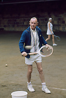 Australian tennis coach Harry Hopman on court at the Hopman Bollettieri Adult Tennis Camp, Amherst Mass, 1972. CREDIT: JOHN G. ZIMMERMAN