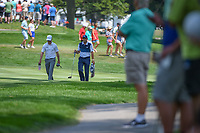 Zach Johnson (USA) and Sergio Garcia (ESP) make their way down 2 during 4th round of the World Golf Championships - Bridgestone Invitational, at the Firestone Country Club, Akron, Ohio. 8/5/2018.<br /> Picture: Golffile | Ken Murray<br /> <br /> <br /> All photo usage must carry mandatory copyright credit (© Golffile | Ken Murray)
