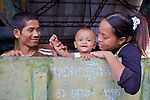 Family, Phnom Sampeau Pagoda