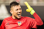 Goalkeeper Diego Alves Carreira of Valencia CF reacts during their La Liga match between Valencia CF and Real Madrid at the Estadio de Mestalla on 22 February 2017 in Valencia, Spain. Photo by Maria Jose Segovia Carmona / Power Sport Images