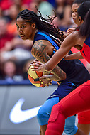 Washington, DC - August 31, 2018: Atlanta Dream forward Jessica Breland (51) in action during semi finals playoff game between Atlanta Dream and Wasington Mystics at the Charles Smith Center at George Washington University in Washington, DC. (Photo by Phil Peters/Media Images International)