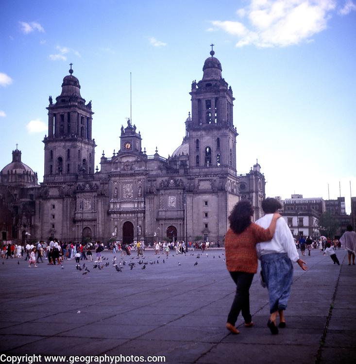 A294GF Cathedral zocalo Mexico City Mexico
