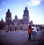 A294GF Cathedral zocalo Mexico City Mexico