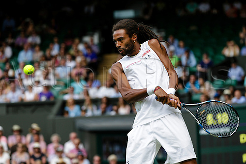 02.07.2015.  Wimbledon, England. The Wimbledon Tennis Championships. Gentlemen's Singles second round match between tenth seed Rafael Nadal (ESP) and Dustin Brown (GER).  Dustin Brown in action