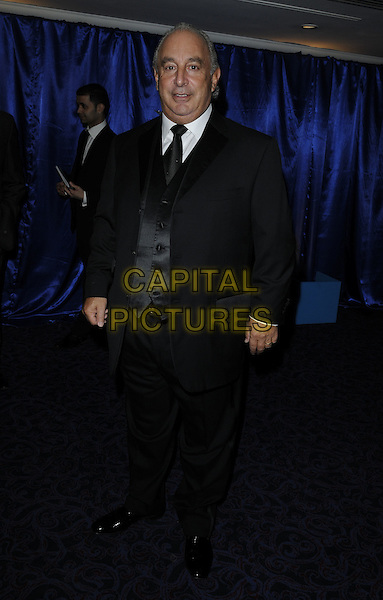 SIR PHILIP GREEN .at the Retail Trust London Ball, , Park Lane, Grosvenor House Hotel, London, England, UK, .January 31st 2011..half length black suit tie waistcoat .CAP/CAN.©Can Nguyen/Capital Pictures.
