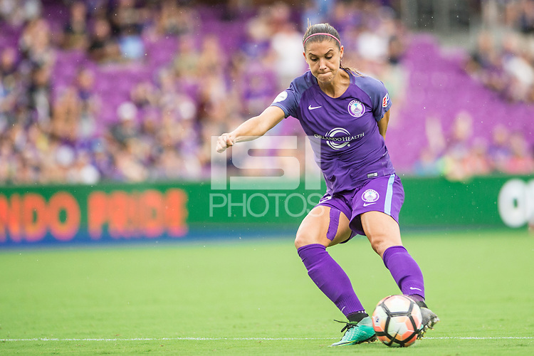 Orlando, FL - Saturday September 23, 2017: Alex Morgan during a regular season National Women's Soccer League (NWSL) match between the Orlando Pride and the Portland Thorns FC at Orlando City Stadium.