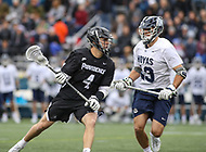 Washington, DC - April 7, 2018: Providence Friars Joshua Keller (4) in action during game between Providence and Georgetown at  Cooper Field in Washington, DC.   (Photo by Elliott Brown/Media Images International)