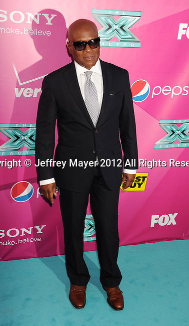 HOLLYWOOD, CA - SEPTEMBER 11: L.A. Reid arrives at the 'The X Factor' Season 2 Premiere Party at Grauman's Chinese Theatre on September 11, 2012 in Hollywood, California.